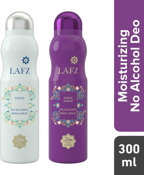 LAFZ Faith & Zoha Sadaf Combo No Alcohol Deodorant Spray  -  For Women