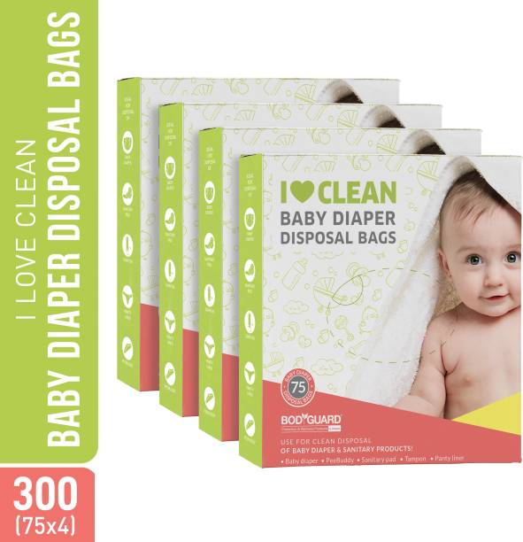 BodyGuard Baby Diapers and Sanitary Disposal Bags - 300 Bags (4 Pack - 75 Bags Each) personal care