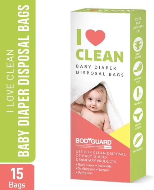 BodyGuard Baby Diapers and Sanitary Disposal Bag - 15 Bags Disposal Bag