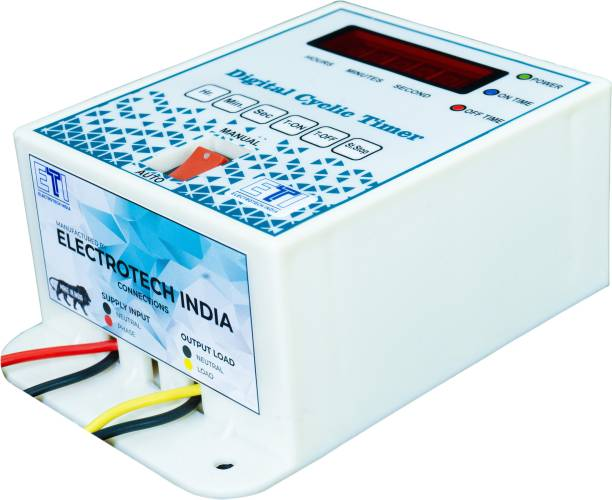 ElectroTech India Single Phase Digital Cyclic Timer / Hydroponic Timer Programmable Electronic Timer Switch