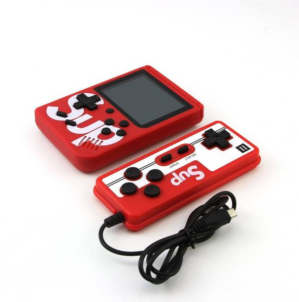 IMMUTABLE 4347 _ RRT _ SUP X Game Box 400 in One Handheld Game Console With Remote Controller & Can Connect to A TV 2 Player ( Only 2nd Player Play with Remote) 8 GB with Retro 400 in 1
