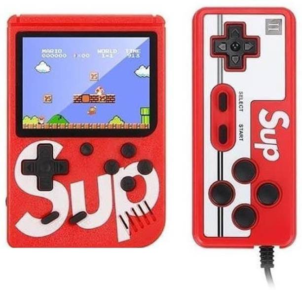 IMMUTABLE 4349 _ RRT _ SUP X Game Box 400 in One Handheld Game Console With Remote Controller & Can Connect to A TV 2 Player ( Only 2nd Player Play with Remote) 8 GB with Retro 400 in 1