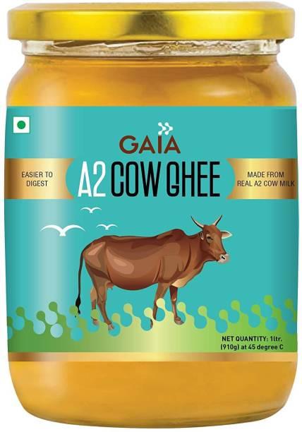 GAIA A2 Cow Ghee, from Cow Milk ,1 LTR 1 L Mason Jar