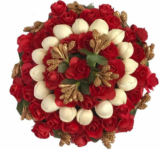 Maahal Artificial Flower Bun/Juda Accessories For Women/Girls (Pack-01,Color-Multi) Bun