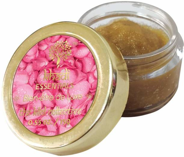 Khadi Essentials Lip Ligtening Scrub for Dark and Rough Lips with Dates and Walnut Rose, Dates