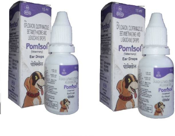 intas Pomisol Ear Care Drops for Dogs Pack of 2 Pet Ear Eye Wipes