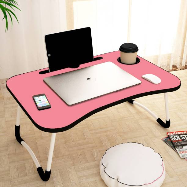 thoom pink Wood Portable Laptop Table