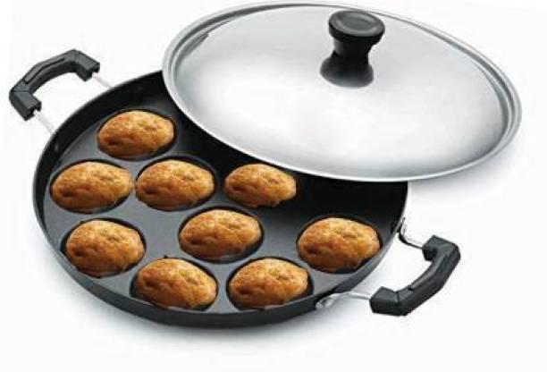 bishnoi 29 @ Side Handle Non-Stick 12 Cavity Appam Pan Idli Maker (1 Plates , 12 Idlis ) Microwave Idli Maker