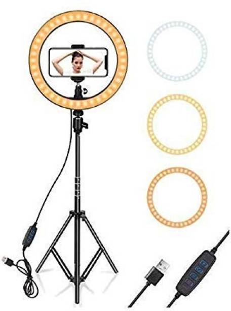 upreale LED Ring Light with Stand for Camera Smartphone (18 inch) Flash