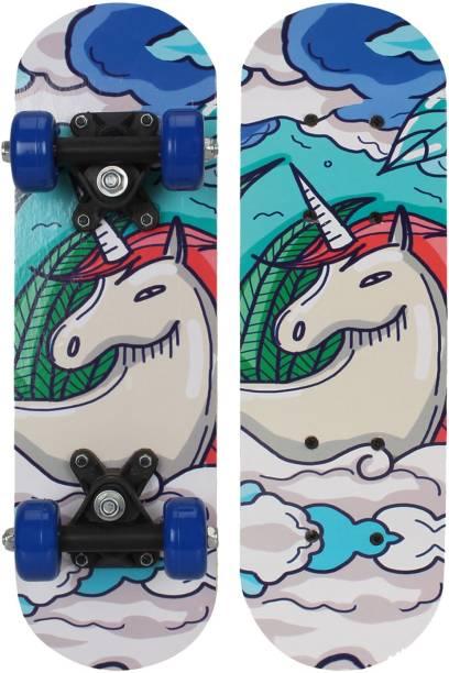 Strauss White Horse Kids 5 inch x 17 inch Skateboard