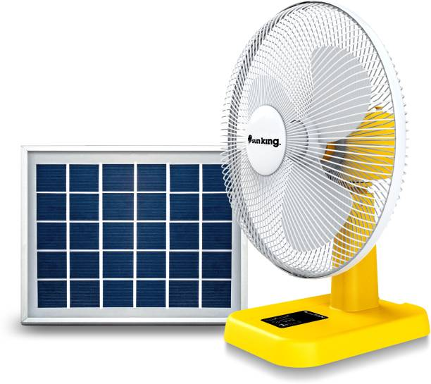 Sun King Table Solar Fan Set