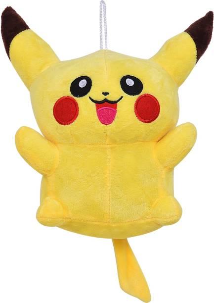 Smartcraft Pickachu Soft Toy 9inch, Yellow Pikachu Stuffed Soft Plush Toy  - 23 cm