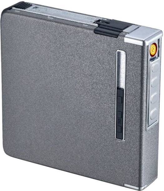 GREYFIRE USB Rechargeable Multifunctional New 20 Sticks Cigarette Case Box Cigarette Lighter