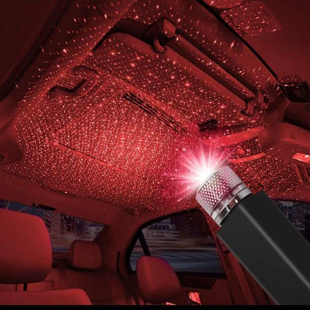 SKAI Auto Roof Star Projector Lights, USB Portable Adjustable Flexible Interior Car Night Lamp Decorations with Micro USB OTG Romantic Galaxy Atmosphere fit Car Car Fancy Lights (Red) Car Fancy Lights