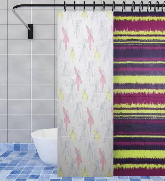 Flipkart SmartBuy 180 cm (6 ft) PVC Shower Curtain (Pack Of 2)