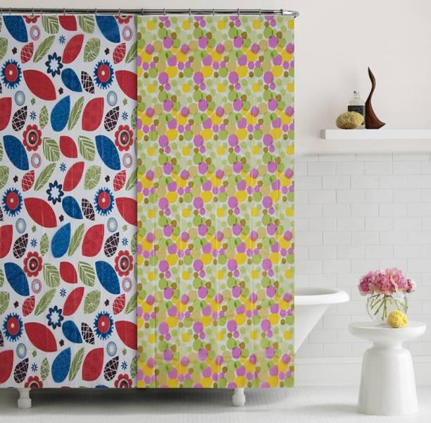 Flipkart SmartBuy 182.88 cm (6 ft) PVC Shower Curtain (Pack Of 2)