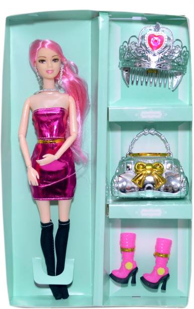 mohini collection Foldable Doll Pink Doll with Shoes