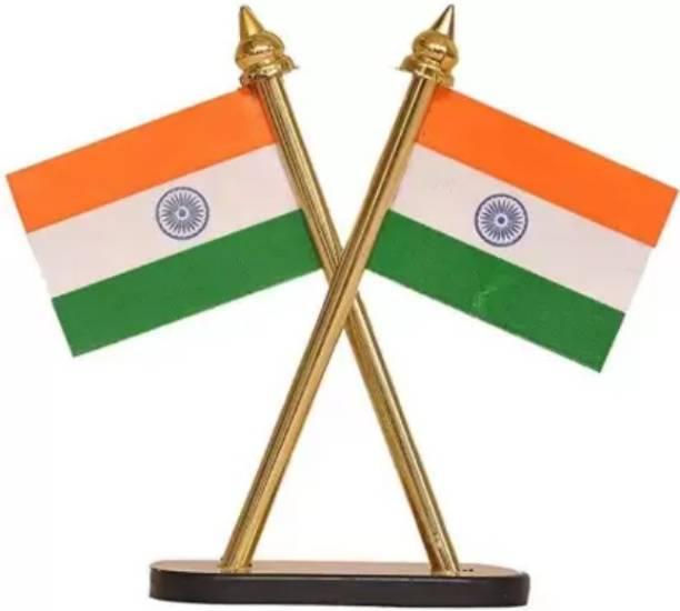 EliteAuto INDIA Double Sided Wind Car Dashboard Flag Flag