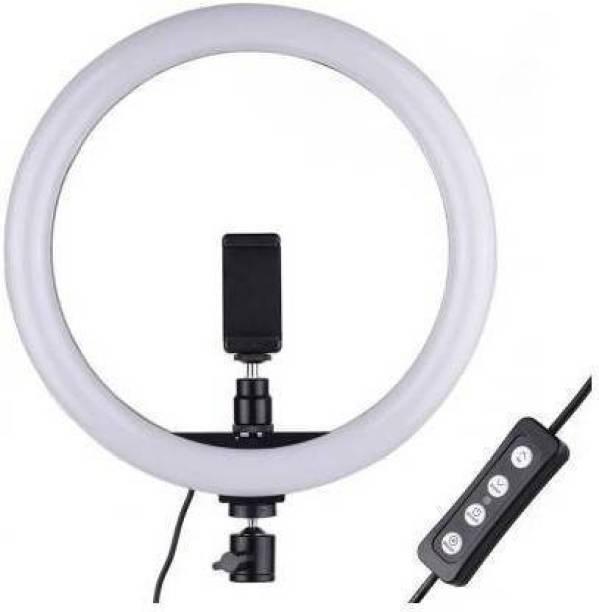 Style Tech 10 inch Dimmable LED Selfie Ring Light Mini LED Camera Light Studio Fill Light Desktop Lamp for YouTube Video, Live Streaming, Portrait Photography Lighting, Makeup Ring Flash