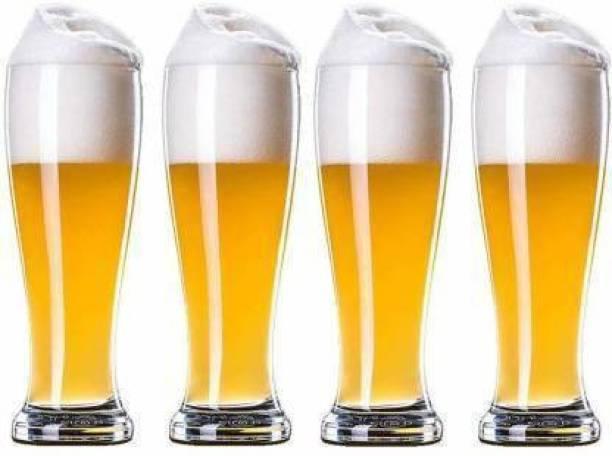Kasa (Pack of 4) JG (Pack of 4) Juice Mocktail Lassi Glass Set, Party Home & Bar Glass Set (500 ml, Glass) Glass Set