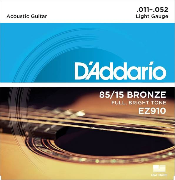 D'ADDARIO Acoustic EZ910 {.011-.052_ Light Gauge} 85/15 FULL BRIGHT TONE_Stainless Steel Material Guitar String