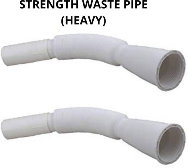 Strength Flexible PVC Waste Drain Pipe for Wash Basin & Sink - 2 piece Hose Pipe - 2 PACK OF WASTE DRAIN PIPE Hose Pipe