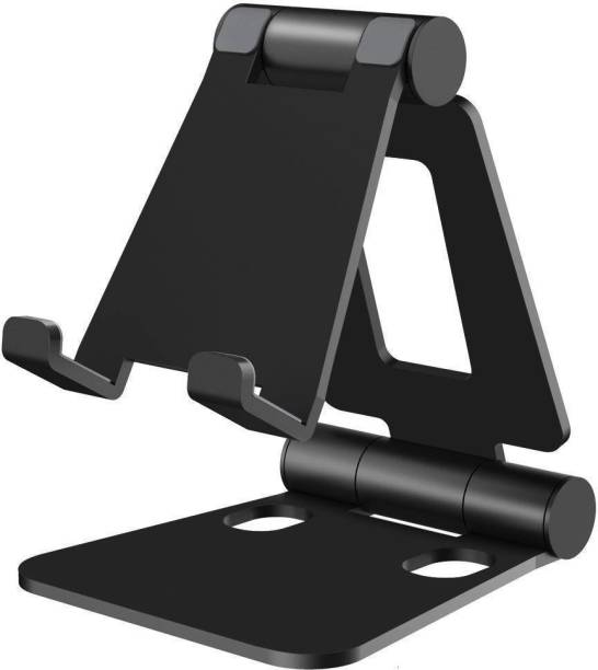 Searchingdude Dual Foldable Table Desk Mobile Holder, Multiple Adjustable Viewing Angle, and Foldable Mobile Holder, Mobile Stand Mobile Holder
