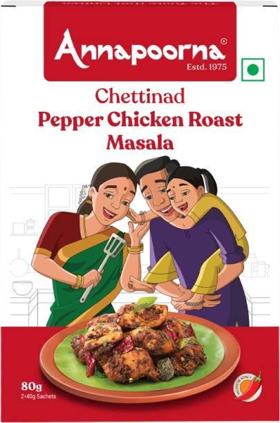Annapoorna Chettinad Pepper Chicken Roast Masala 80g Carton