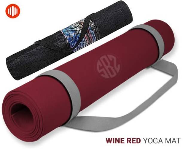 FITBOOZ DOTCOM Special Wine Color Anti Slip Yoga/Exercise Mat with Carry Bag for Men & Women Maroon 6mm mm Yoga Mat