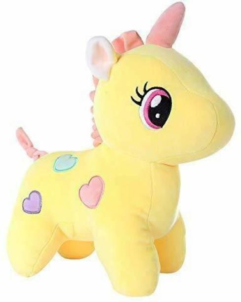 GiftGem Toys & Teddy Super Soft Plush Unicorn Toy Soft Stuffed for Kids - 30 cm (Yellow)  - 30 cm