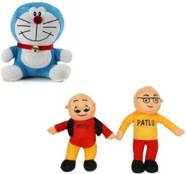 zoonio Motu Patlu & doremon Soft Toy  - 30 cm