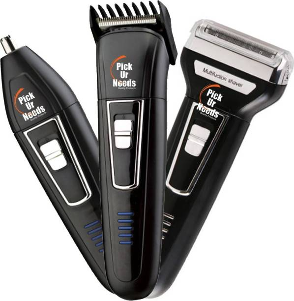 Pick Ur Needs Professional Shaver, 3 in 1 Beard, Nose and Ear Waterproof Trimmer  Runtime: 60 min Grooming Kit for Men & Women