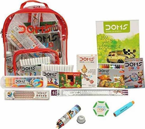 DOMS Art set With pencil color oil pastels crayons sparcles and Pencil Set And sketch book ANd Bag Free