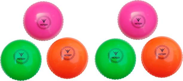 VICTORY Wind Cricket Balls (Pack of 6) - Made in India Cricket Synthetic Ball