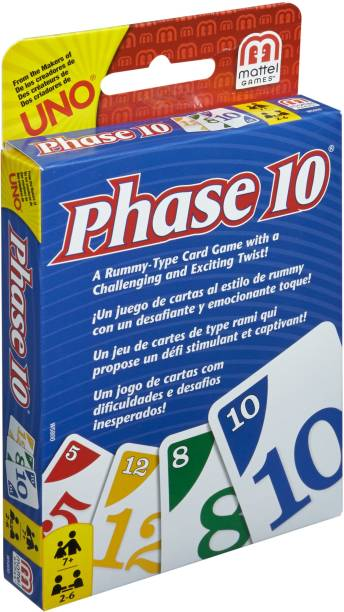 MATTEL Phase 10 Card Game Party & Fun Games Board Game