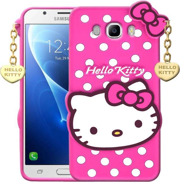 Dgeot Back Cover for Samsung Galaxy G313 Cute 3D Hello Kitty Soft Case With Gold Pendant ♥Pink♥