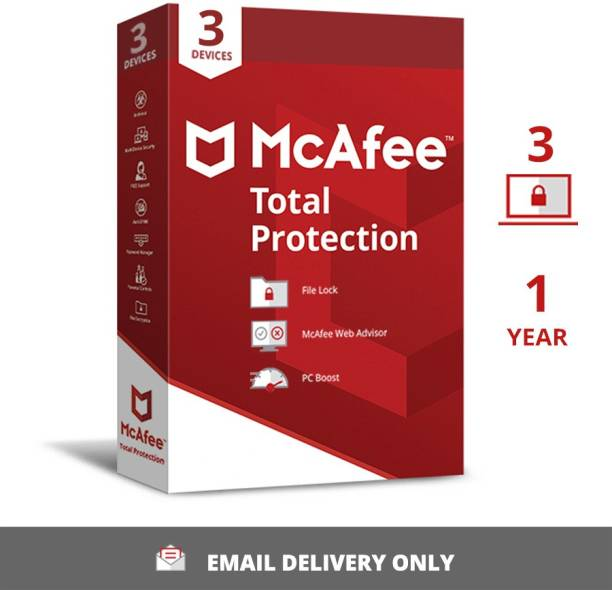 McAfee 3 PC 1 Year Total Security (Email Delivery - No CD)