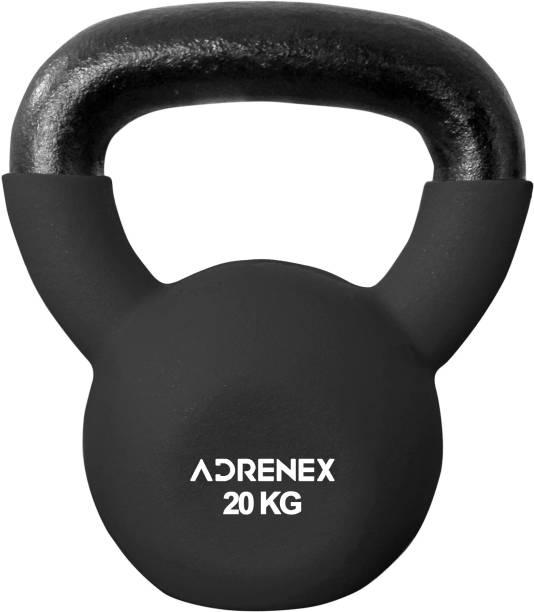 Adrenex by Flipkart 20 kg CAST IRON NEOPRENE COATED kettlebell Black Kettlebell