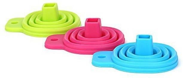 TRISHA MART Funnels Food Grade Silicone Mini Foldable Rubber Funnel Silicone Funnel