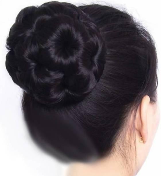 Alizz Black instant juda Artificial Juda  Accessories For Women and Girls Juda For Festive Designer Bridle Wedding Juda Hair Extension