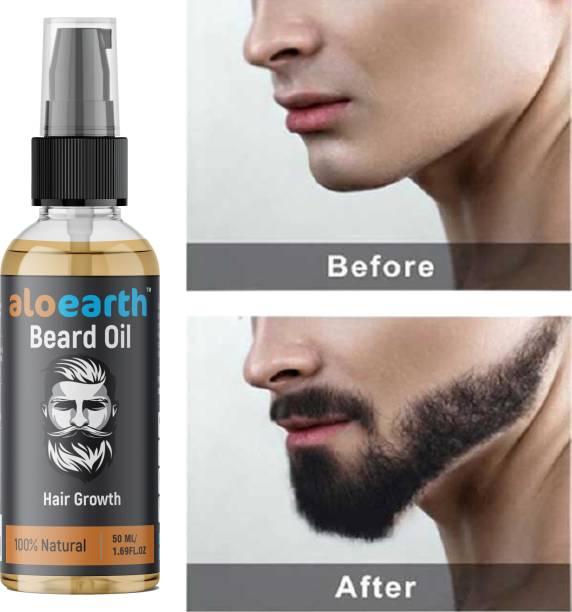 Aloearth Beard Growth Oil for strong and healthy beard growth  Hair Oil