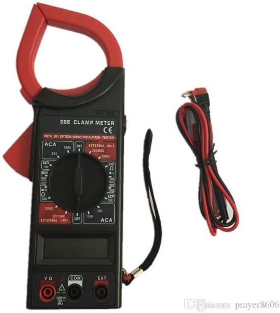 Tanya AC/DC Digital Clamp Multimeter DT266 Electronic Volt AMP Resistance Tester Clamp Meter Data Hold AC 750V DC 1000V With Bag Digital Multimeter