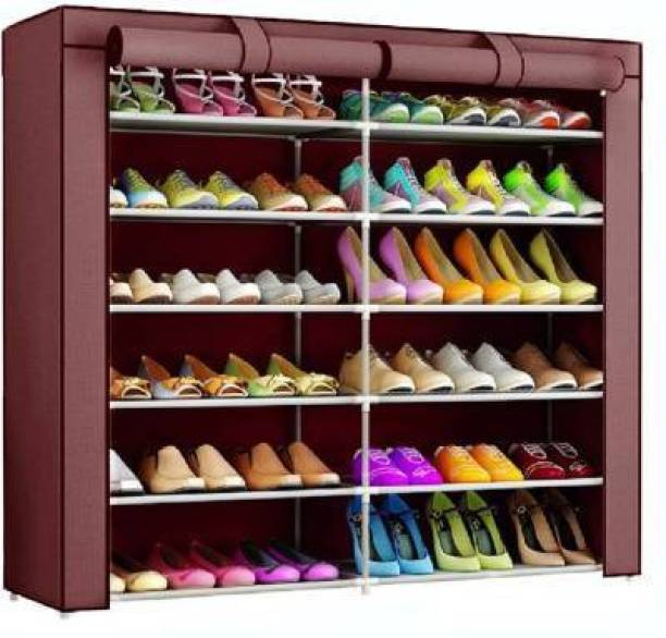 Ketsaal 12 Layer Foldable & Collapsible Shoe Rack Metal Collapsible Shoe Stand