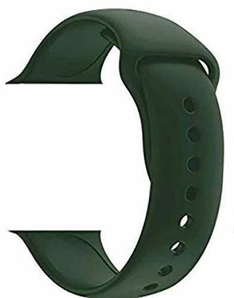 gettechgo Premium Quality Replacement iWATCH Strap Silicone (38-40MM) (Olive Green) Smart Watch Strap