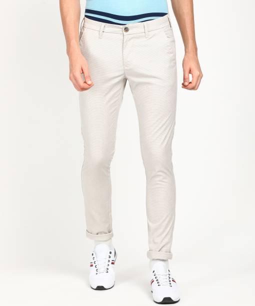 KILLER Slim Fit Men Grey Trousers