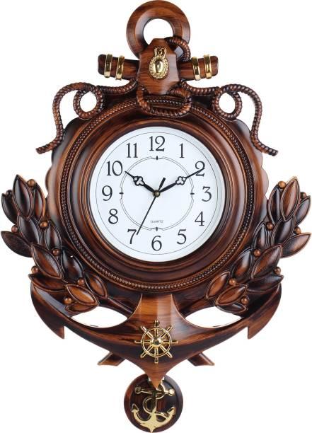 Efinito Analog 58 cm X 42 cm Wall Clock