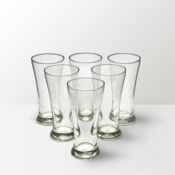 Pehal Mart (Pack of 6) set-of-6-pilsner (2) glass-320 ml Glass Set