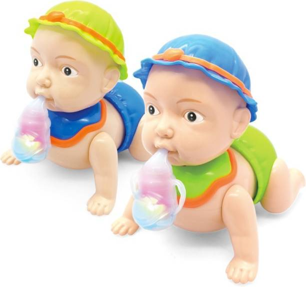 SHIBU Naughty Baby Crawling Toy With Music And 3D Lights