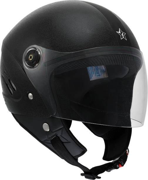 Flipkart SmartBuy Bolt ISI Marked Open-face 100% ABS with Unbreakable Visor Motorbike Helmet