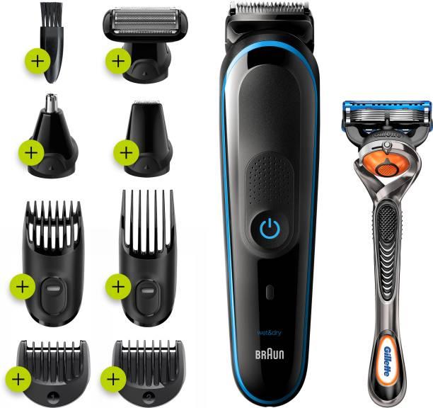 Braun 9-in-1 Trimmer MGK5280 Beard Trimmer, Body Grooming Kit & Hair Clipper, 100min run time  Runtime: 100 min Grooming Kit for Men